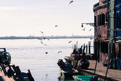 Burano in the evening Royalty Free Stock Images