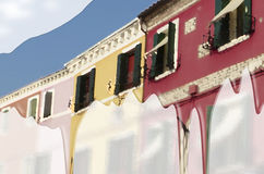 Burano färbt #1 Stockfotografie