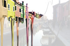 Burano färbt #3 Stockfoto