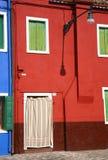 Burano facade. Classic Burano blue house facade royalty free stock images