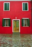 Burano Facade. The front of a house in Burano, Italy Stock Image