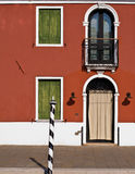 Burano facade Royalty Free Stock Photos