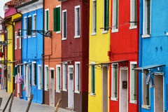 Burano, famous for its colours. Stock Photos