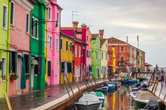 Burano, fishermen houses near Venice Royalty Free Stock Image