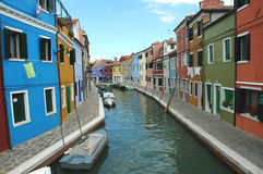Burano Fishing Village. The island of Burano, just outside of Venice, is filled with vibrant colors Royalty Free Stock Image