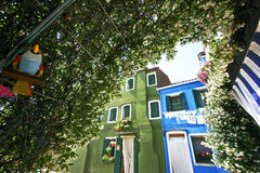 Burano glimpse i Royalty Free Stock Image