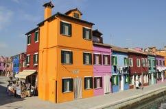 Burano Häuser 6 Lizenzfreie Stockfotos