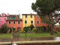 Burano Häuser Lizenzfreies Stockbild