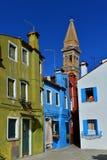Burano ha colorato le case fotografia stock libera da diritti