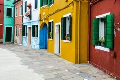 Burano house facade, Venice royalty free stock photography
