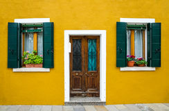 Burano house facade, Venice Stock Images