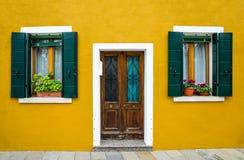 Burano house facade, Venice stock images