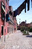 Burano house in Venice Stock Photography