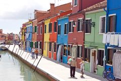 Burano houses Stock Photography