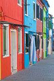 Burano houses. Some colored houses on Burano islan royalty free stock image