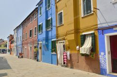 Burano houses Stock Images