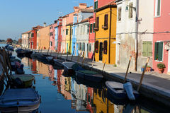 Burano Houses. Burano is situated near Venice. Burano is known for its small, brightly-painted houses Royalty Free Stock Images