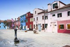 Burano houses - Venice Royalty Free Stock Photos