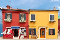 Burano. Houses on the water. Stock Image