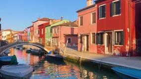 Burano Insel, Venedig, Italien stock video footage