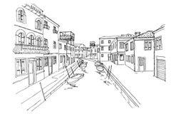 Burano Insel, Venedig, Italien vektor abbildung