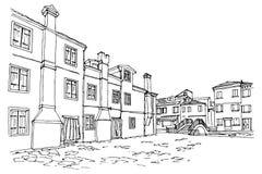 Burano Insel, Venedig, Italien stock abbildung