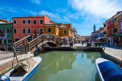 Burano Insel, Venedig, Italien Lizenzfreies Stockbild