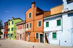 Burano isalnd在意大利 免版税库存图片