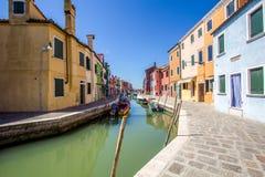 Burano isalnd i Italien Royaltyfria Bilder