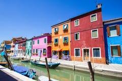 Burano isalnd i Italien Royaltyfri Fotografi