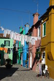 Burano Island. Houses on Burano island, Venice, Italy royalty free stock photo