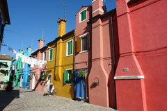 Burano Island. Houses on Burano island, Venice, Italy stock photography