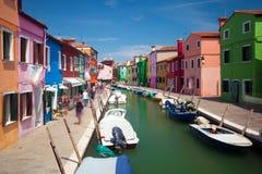 Colorful Burano island, Venice, Italy Stock Image