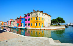 Burano island colorful scenery (Venice, Italy) Stock Photography