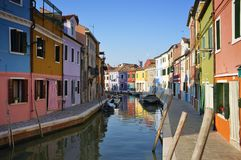 Burano island houses Royalty Free Stock Photography