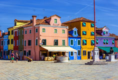Burano island. Italy. Royalty Free Stock Images
