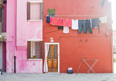Burano island near Venice Stock Images