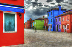 Burano. Is an island near Venice famous for its glassblowing Stock Images