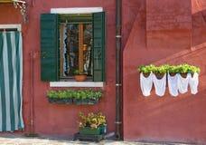 Burano island near Venice Stock Photos
