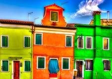 In Burano island near Venice in Italy Stock Photography