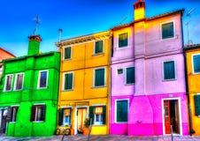 In Burano island near Venice in Italy Royalty Free Stock Photography