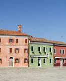 Burano island ,typical  colorful houses - Italy Royalty Free Stock Image