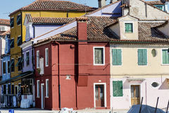 Burano island ,typical  colorful houses - Italy Royalty Free Stock Photo