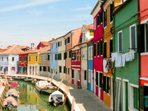 Burano, an island in the Venetian Lagoon Royalty Free Stock Images