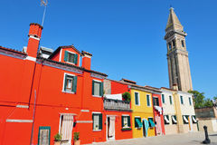 Burano island in the Venetian Lagoon, Italy Stock Image