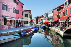 Burano island in the Venetian Lagoon, Italy Royalty Free Stock Images