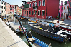 Burano island in the Venetian Lagoon, Italy Royalty Free Stock Photography