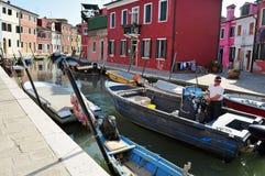 Burano island in the Venetian Lagoon, Italy Royalty Free Stock Photography