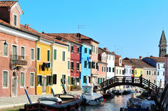 Burano island in the Venetian Lagoon, Italy Stock Photos