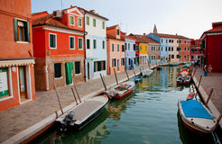 Burano island, Venice, Italy. Colorful houses of Burano island, Italy Stock Photography